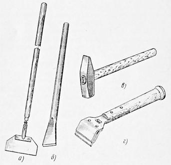 инструменты для очистки брусчатки