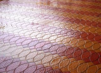чистая тротуарная плитка