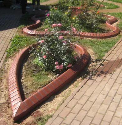 гибкий бордюр из бетона
