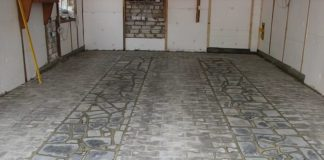 тротуарная плитка в гараже