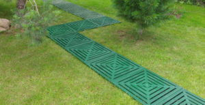 пластиковые садовые дорожки на даче