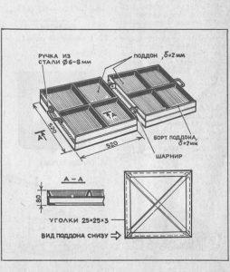 чертеж металлической формы