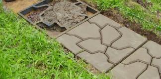 форма для тротуарной плитки