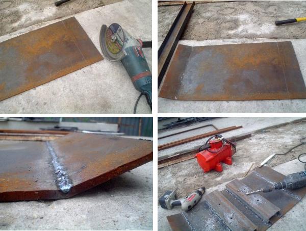 изготовление трамбовочной плиты