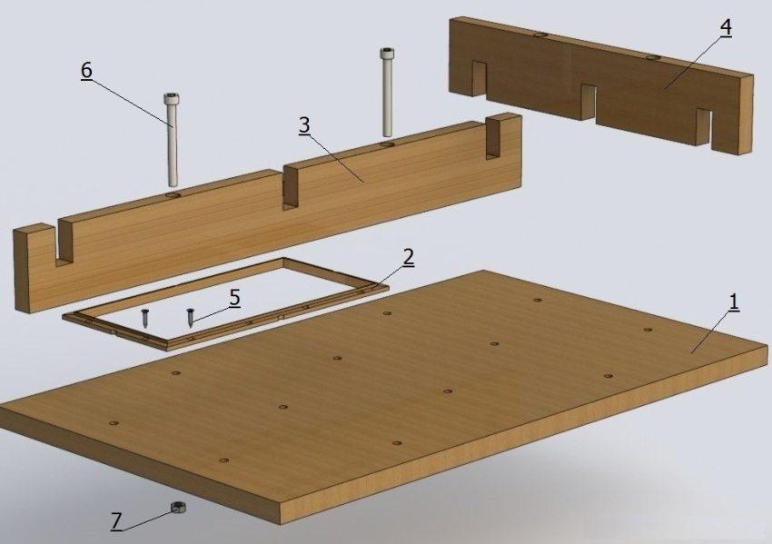 конструкция деревянной формы для тротуарной плитки