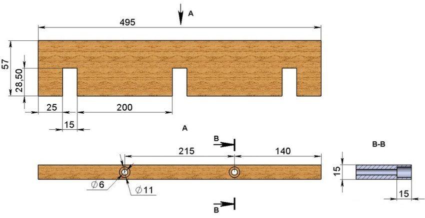 продольная стенка формы