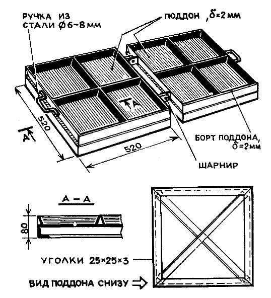 схема формы для изготовления бетонных плит