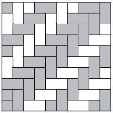 схема укладки плитки английский булыжник
