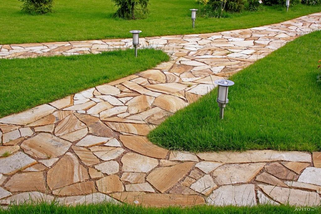 вариант дорожки из натурального камня