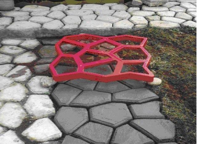 бетонные дорожки с формой