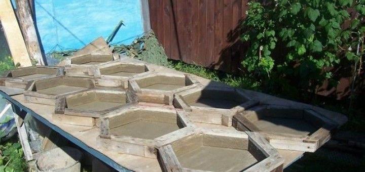 шаг 10 изготовление тротуарной плитки
