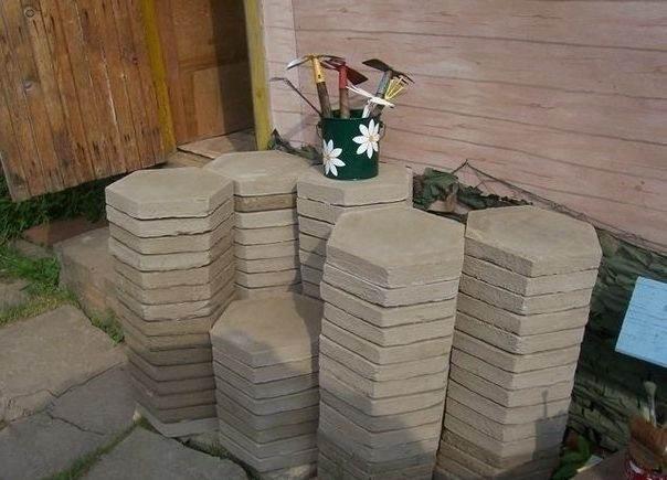 шаг 11 изготовление тротуарной плитки