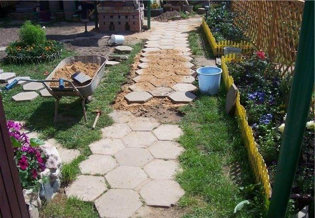 шаг 12 изготовление тротуарной плитки
