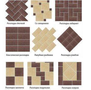 еще варианты укладки плитки